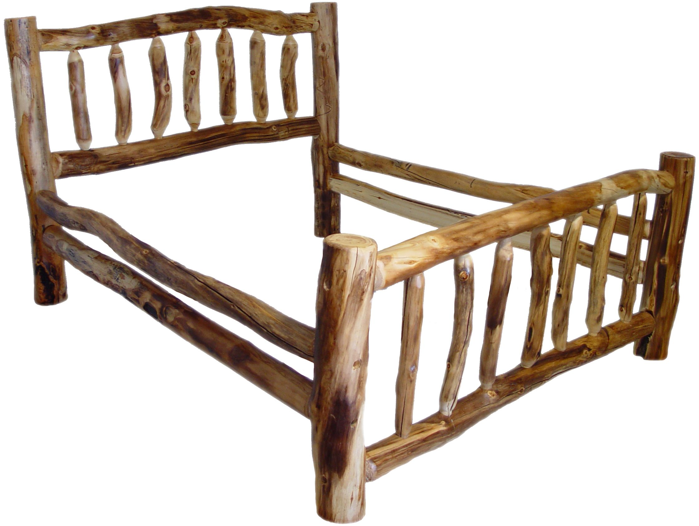 Aspen Bed Smooth Logs Rustic Furniture Mall By Timber Creek Log Cabin Furniture Rustic Furniture Log Bed