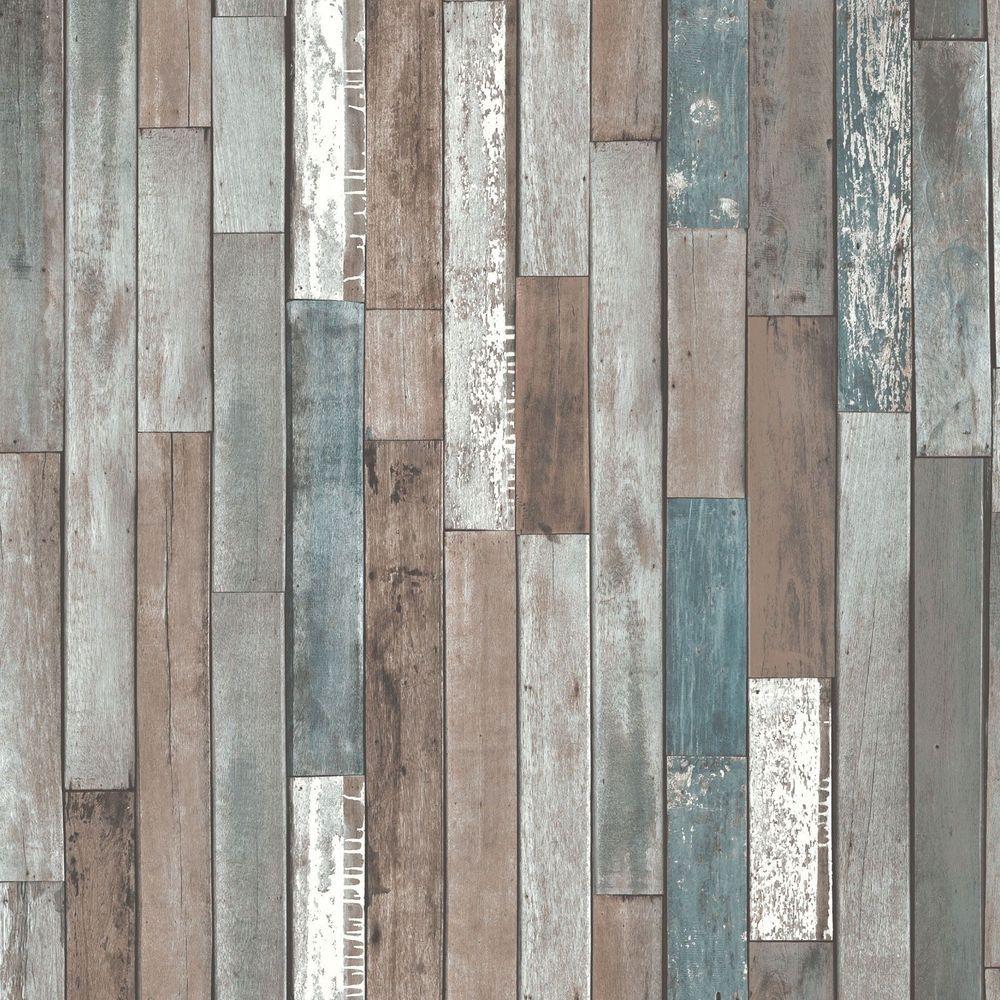 Wood Planks Wallpaper Blue Fd40888 New Wooden Reclaimed Fine