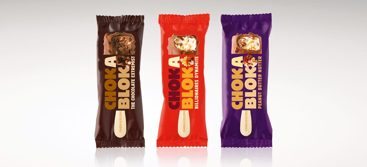 Tesco Chokablok Ice Lolly Range Packaging Label Design