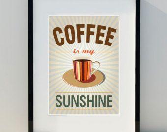 kunst f r zuhause vintage poster k che retro von whiteshoesandco caff pinterest kaffee. Black Bedroom Furniture Sets. Home Design Ideas
