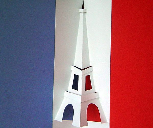 So Easy A Kid Can Make This With Pair Of Scissors The Eiffel Tower In French Flag