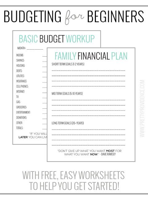 We\u0027ve found these worksheets super helpful for sticking to a budget