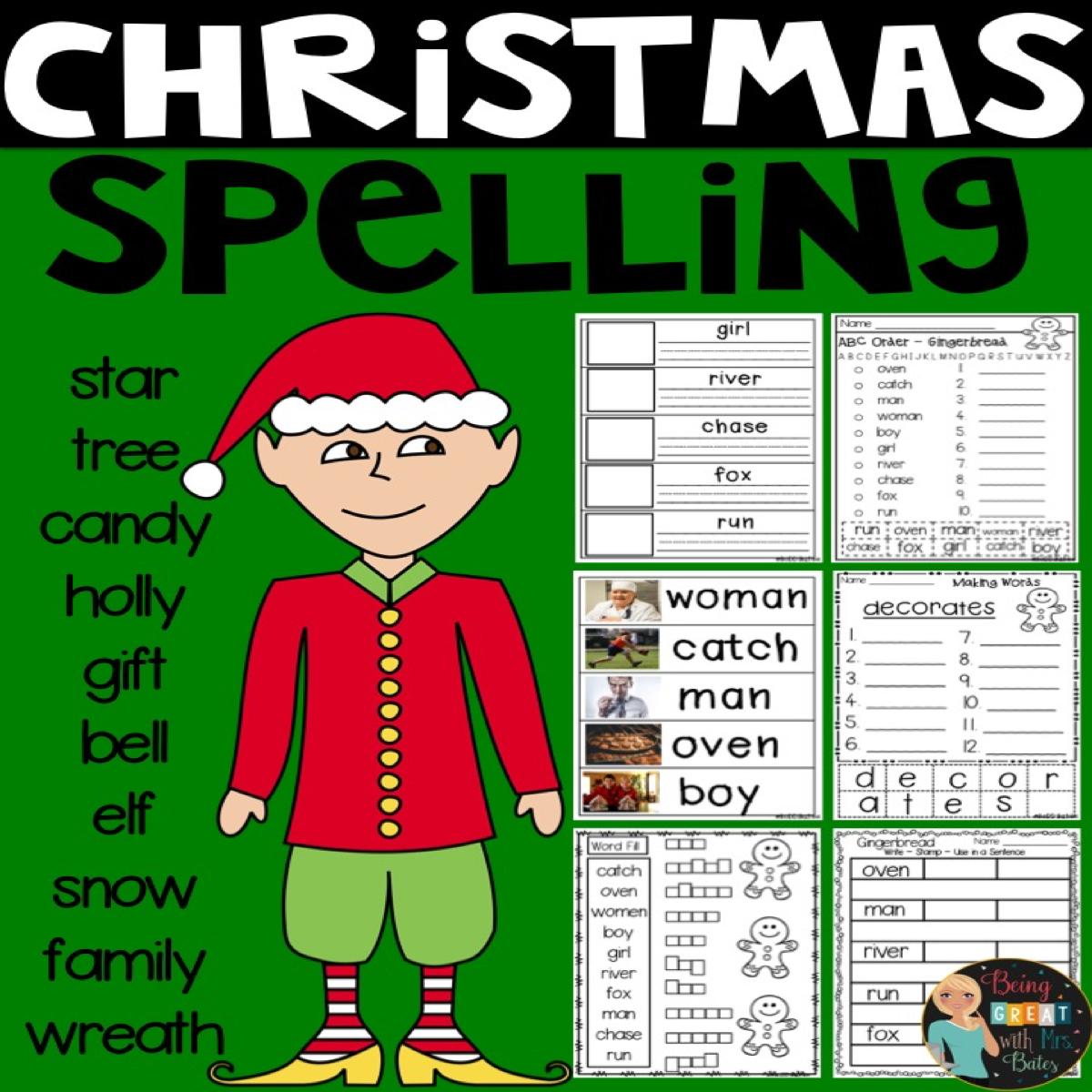 Christmas Spelling From Bobbi Bates