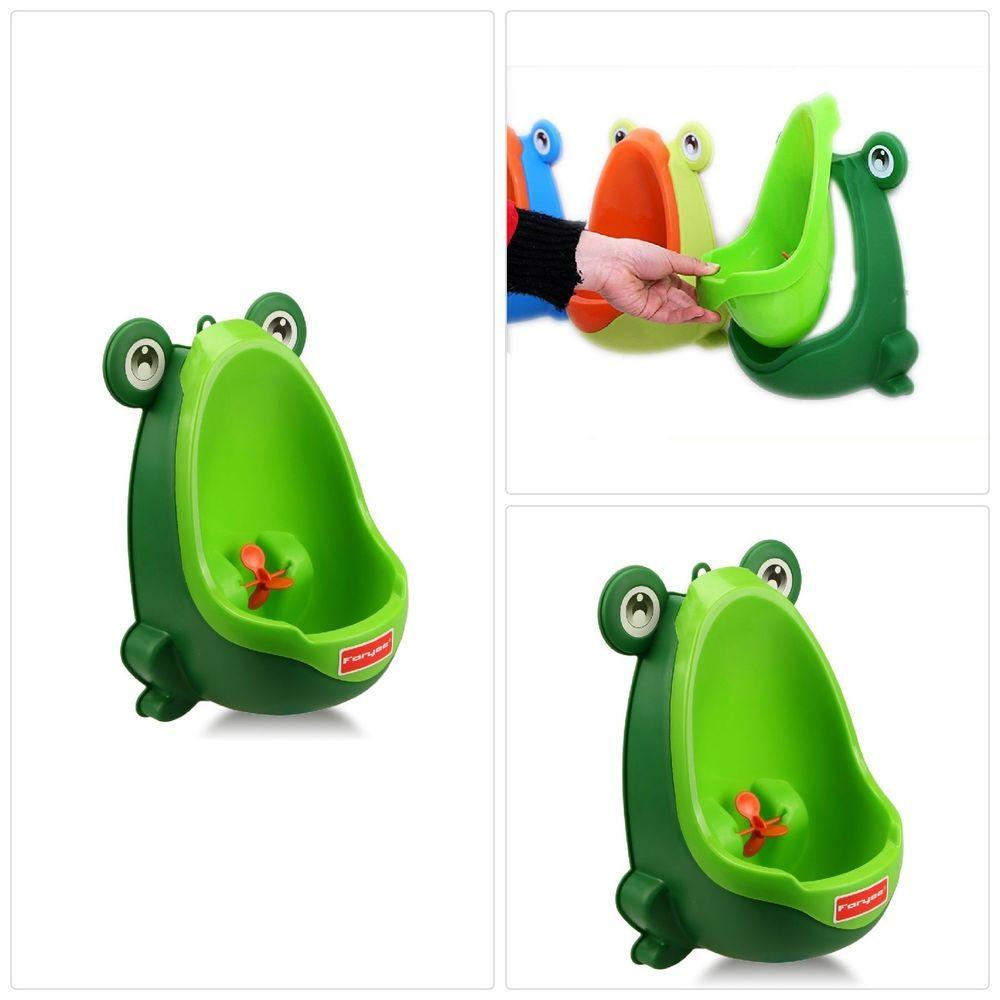 Kids Potty Urinal Training Toilet For Boys Cute Frog Toddler Bathroom Green Kids Potty Potty Training Urinal Cute Frogs