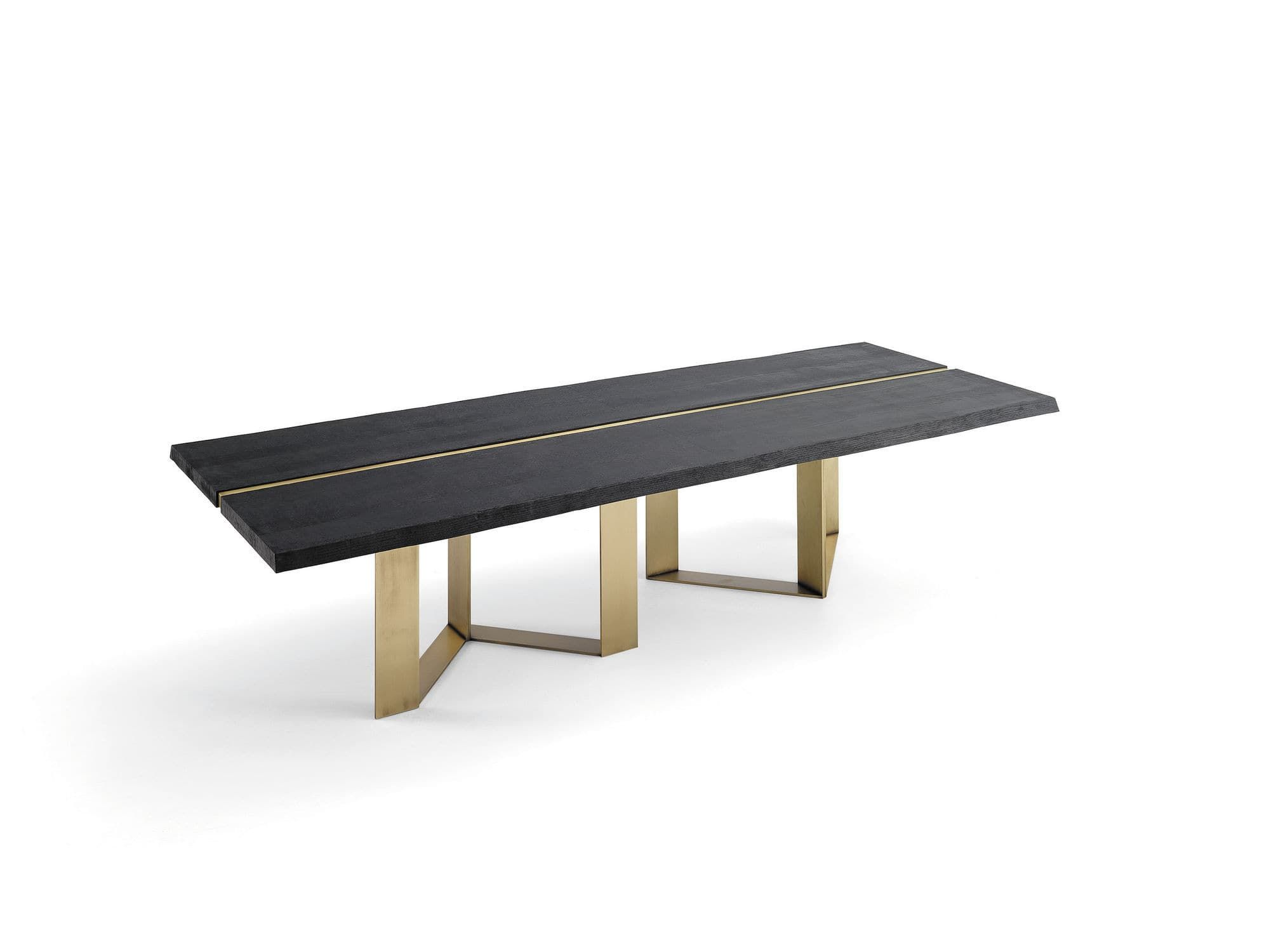 Dining table original design oak brass astor interi for Astor dining table