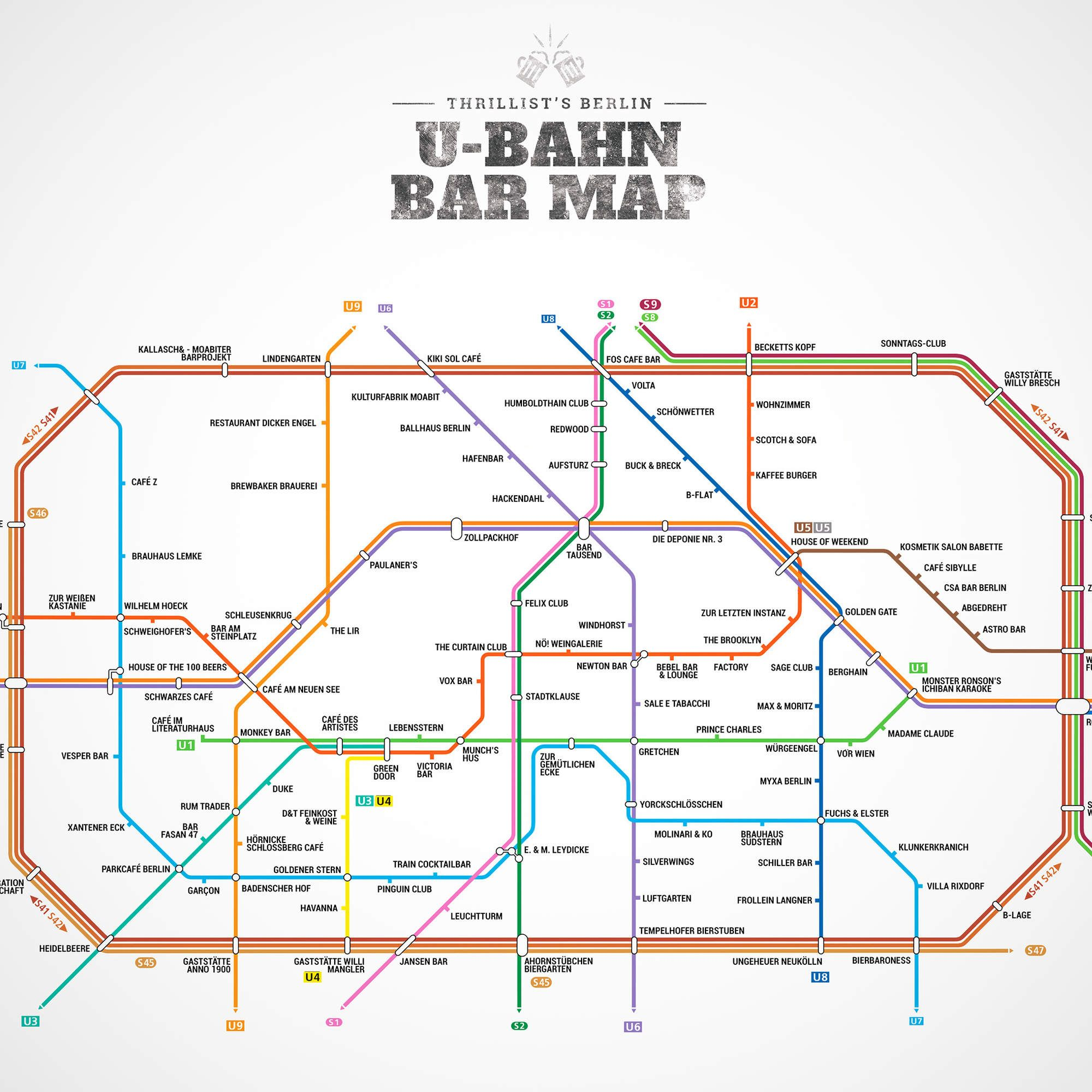 Berlins Firstever UBahn Bar Map Bar Munich And Berlin Berlin - Berlin us bahn map