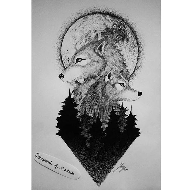 Tattoo project specially for riczusia  ójdzietozostanęmatkąwilków  wolf tattoo dotwork blackwork