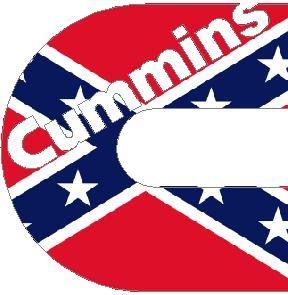 Rebel Flag Logo Rebel Flag Cummins Decal  Sticker Places To - Rebel flag truck decals   online purchasing
