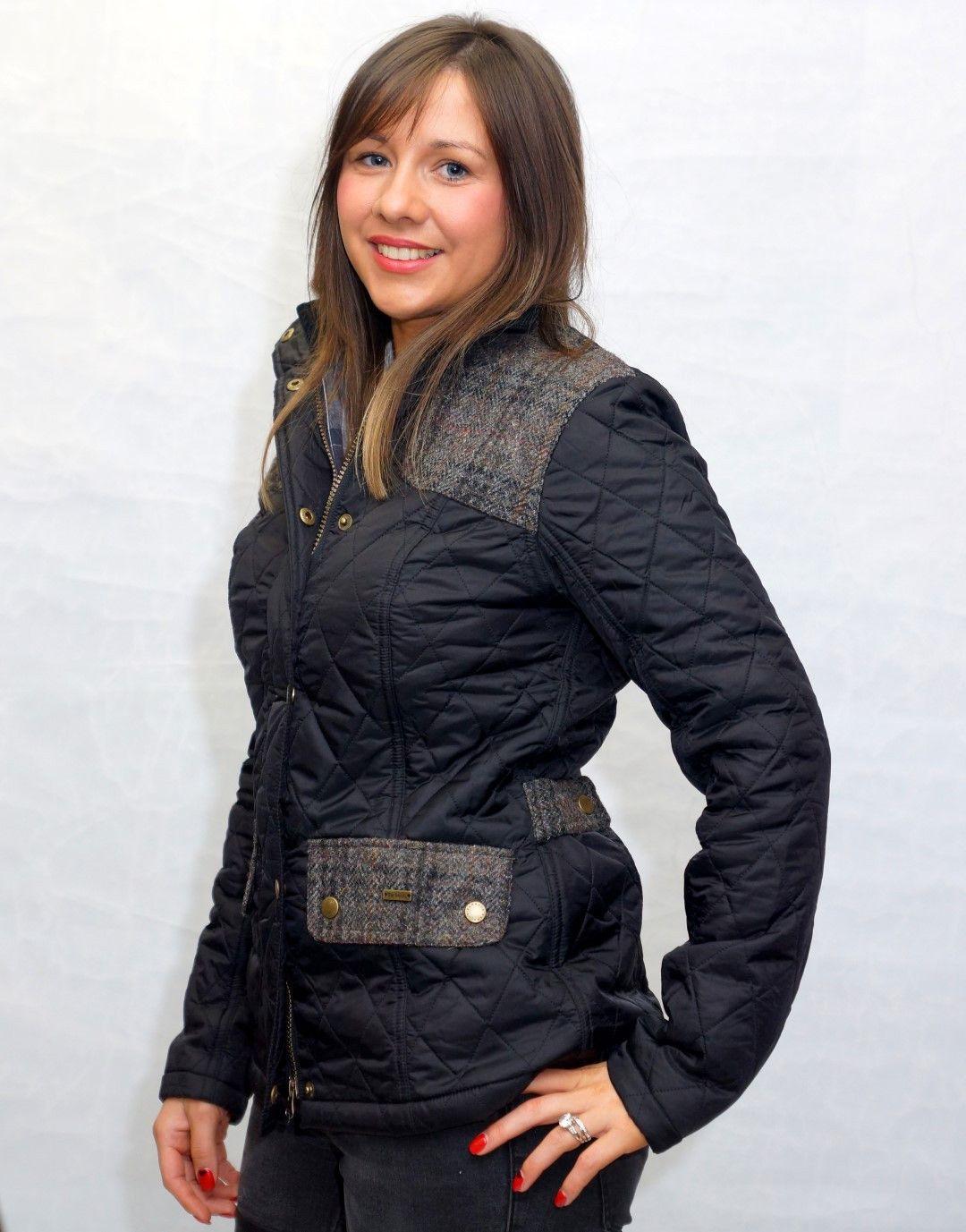 220a73fb7184e Barbour Iris Ladies Quilt in Black LQU0479BK91   Celebrities wearing ...