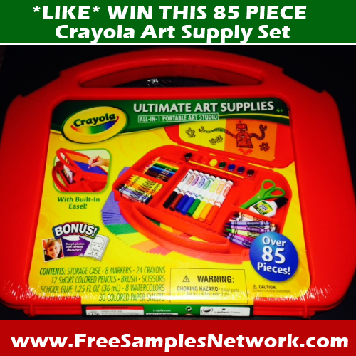 Win This Crayola 85 Piece Art Set From Free Samples Network