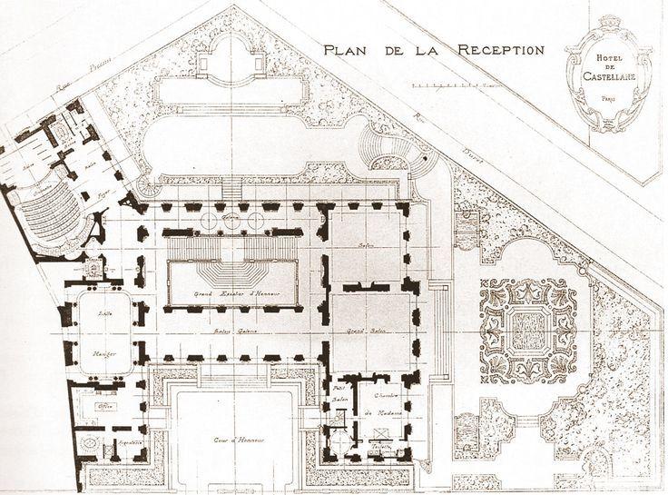 Paris Palais Rose Avenue Foch Plans Planos De Arquitectura Arquitectura Barroca Planos De Casas