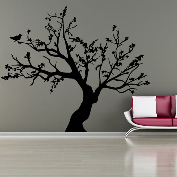 Stylish Big Tree Pattern Background Wall Sticker For Bedroom