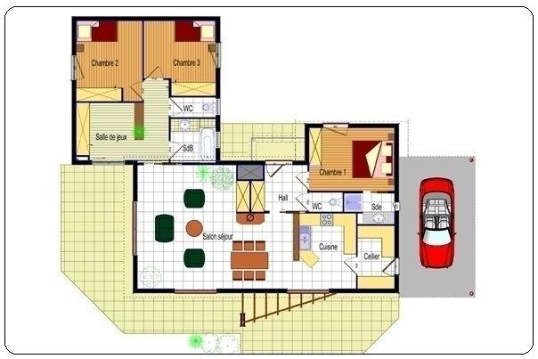 plan-maison-moderne-plain-pied-jpg (604×403) Plan maison