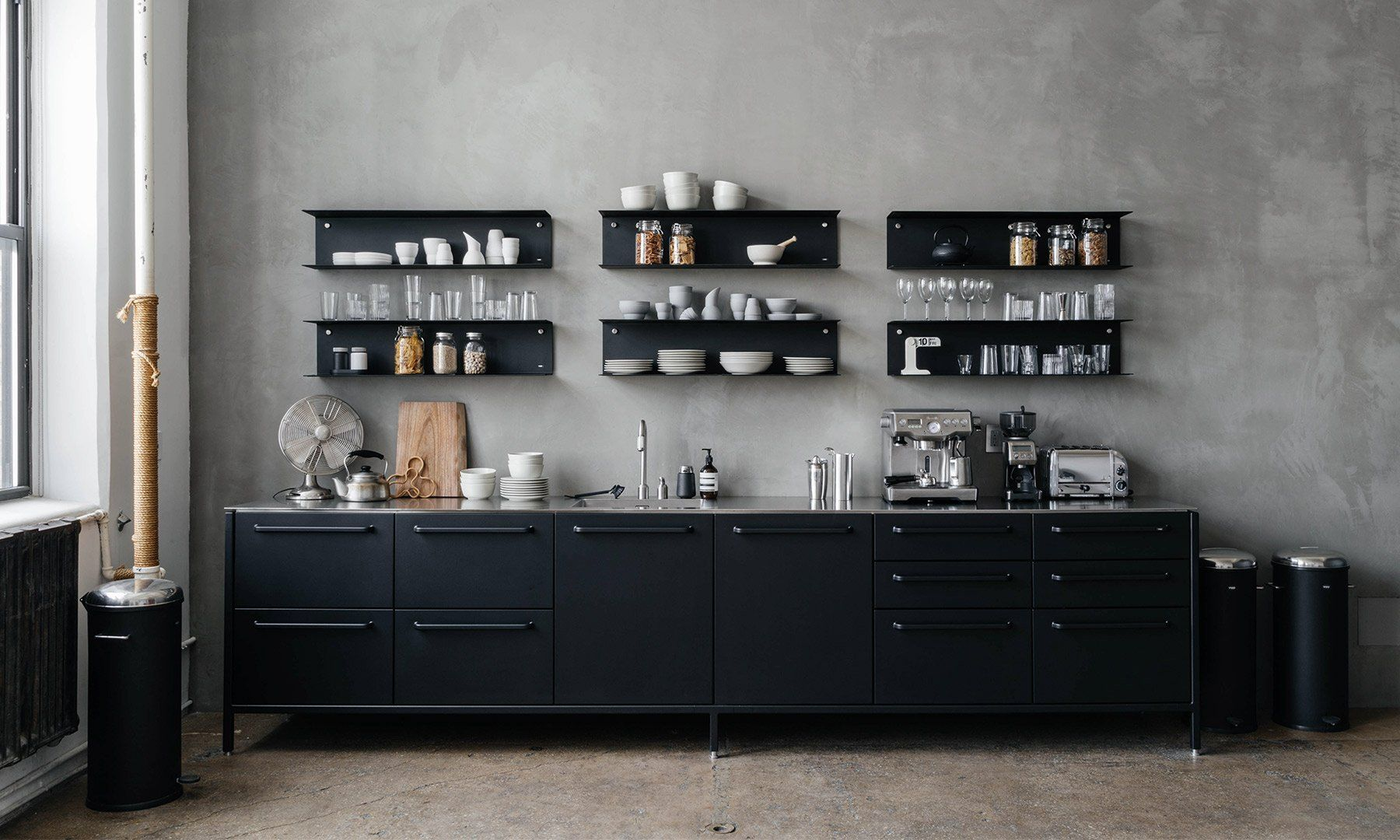 The Latest Furniture Item From Vipp Combines Powder Coated Steel Industrially Tooled And Refine Kitchen Design Companies Home Kitchens Kitchen Cabinet Remodel