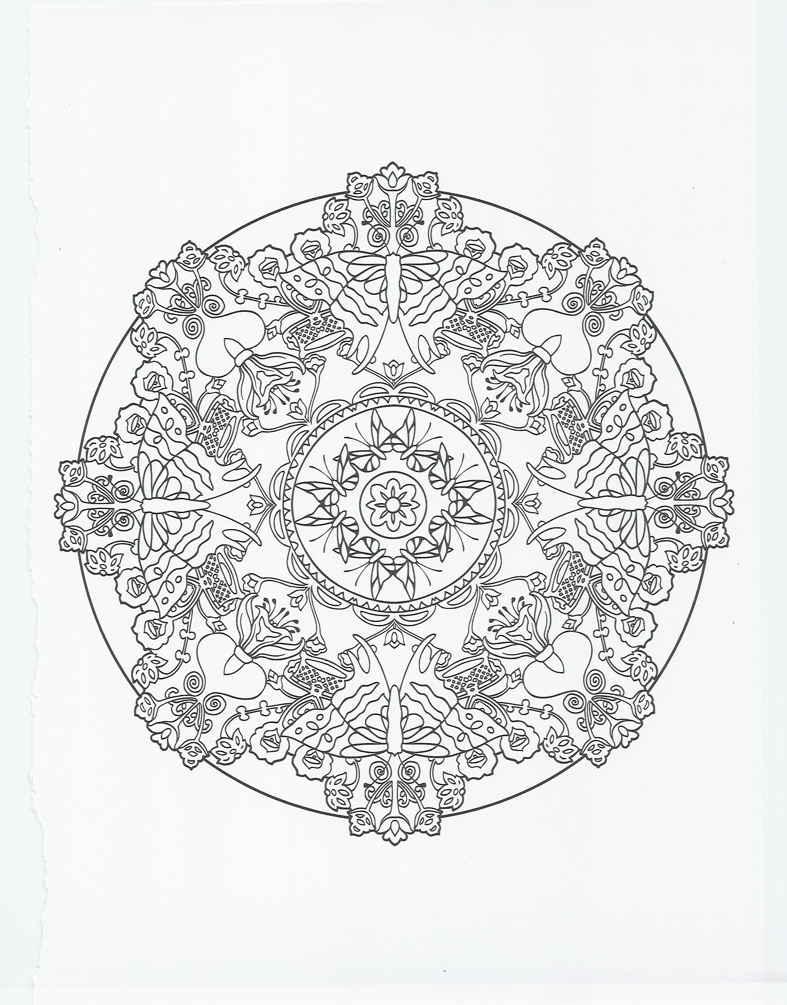 animal mandala - butterfly | Coloring Pages | Pinterest | Mandala ...
