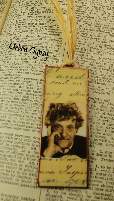 Kurt vonnegut bookmark famous author hoosier son book art