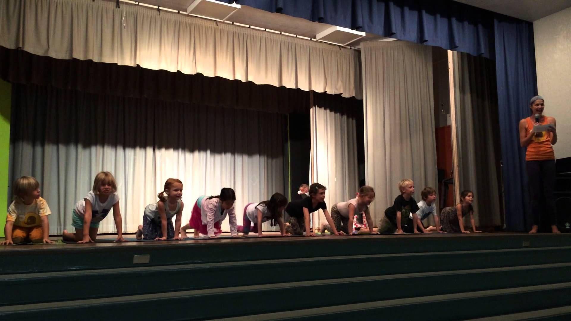 Zooga Yoga At Farragut Elementary School awesome interpretation of yoga poses for kid's.