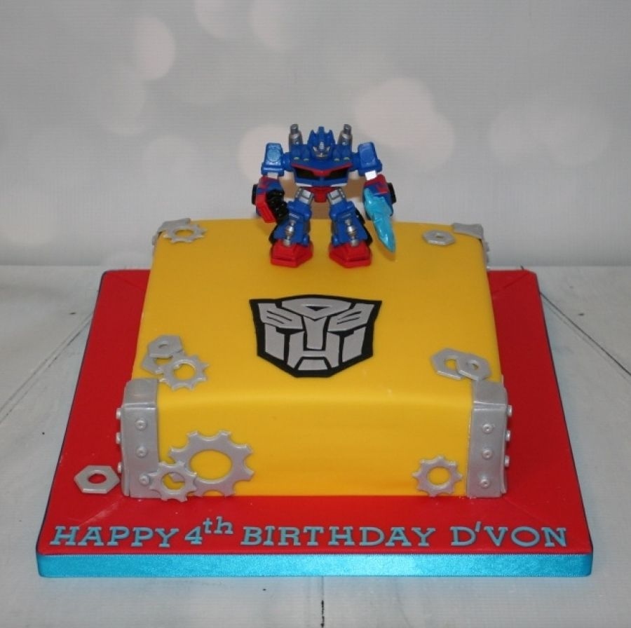 Square Transformers theme cake cakes Pinterest Cake Birthdays