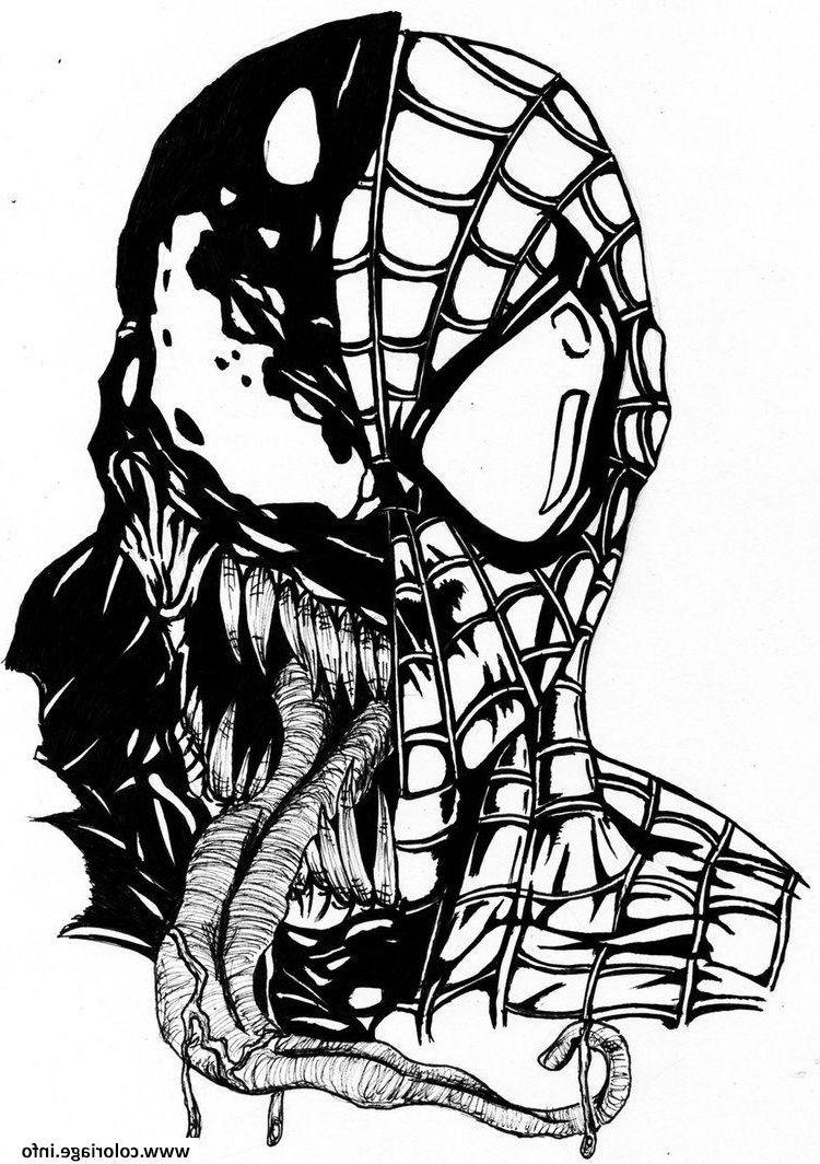 Dessin Venom A Colorier - Dessin et Coloriage