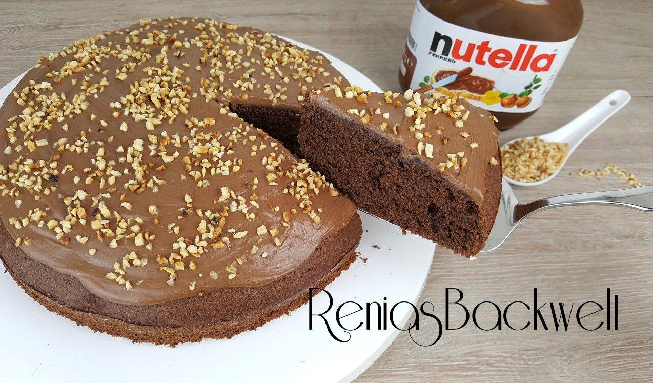 Heute Habe Ich Einen Schokoladig En Und Nussigen Nutella Kuchen Fur Euch Und Dieser Ist Mega Lecke Nutella Kuchen Einfach Nutella Kuchen Nutella Kuchen Schnell