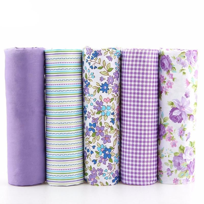 Souarts Floral Cotton Fabric Bundles Quilting Sewing Patchwork Cloths DIY Craft Green