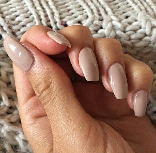 Light Brown Shiny Nails Designs Fake Nails Ballerina Nails
