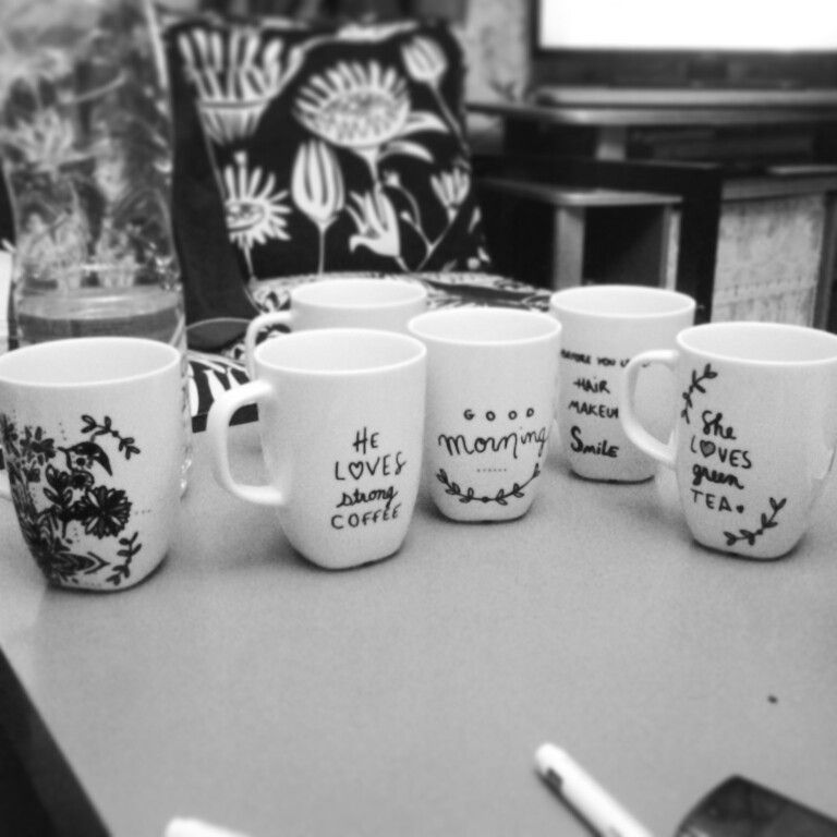 diy mugs pinterest inspiration dessins sur. Black Bedroom Furniture Sets. Home Design Ideas