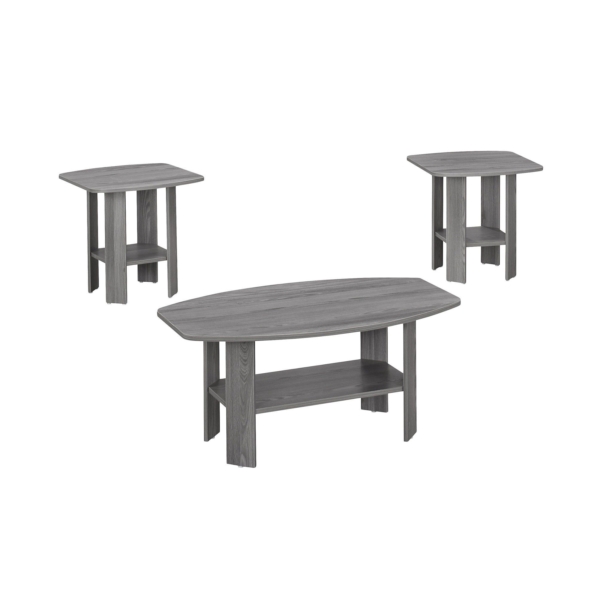 Photo of Grey Table Set – 3Pcs Set