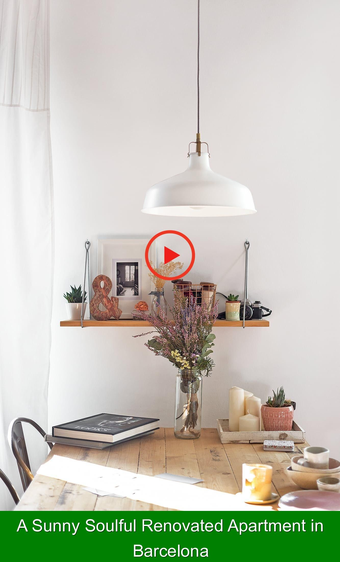 A Sunny Soulful Renovated Apartment in Barcelona {284142} #dining #room #table #diningroomtable This house is so cozy and lovely it seems to hug you.