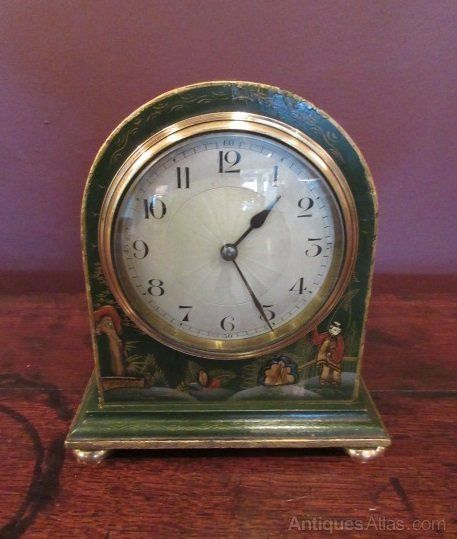 Small Edwardian Period Chinoserie Mantel Clock #edwardianperiod