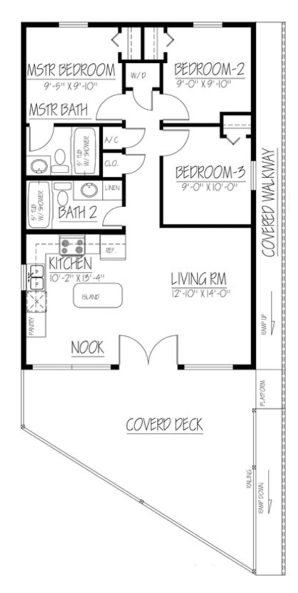Cabin Style House Plan 3 Beds 2 Baths 852 Sq Ft Plan 1061 25 Floor Plan Design House Plans Cabin Style