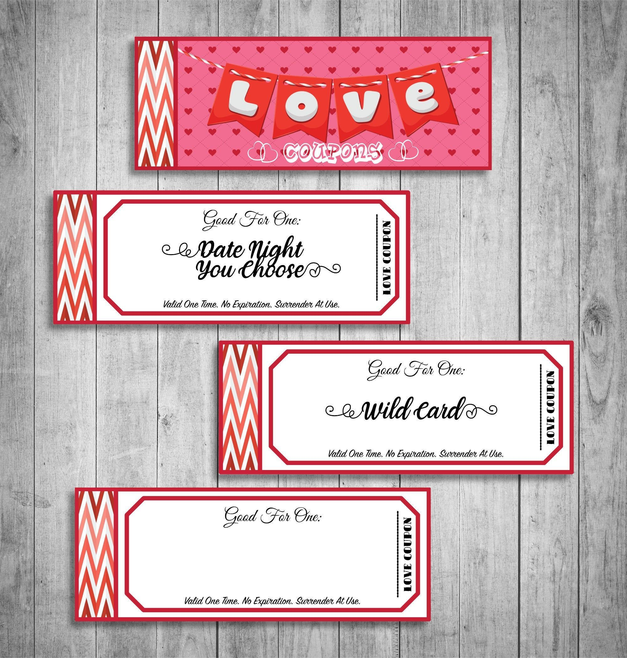 Fun love coupon book gift for her funny printable
