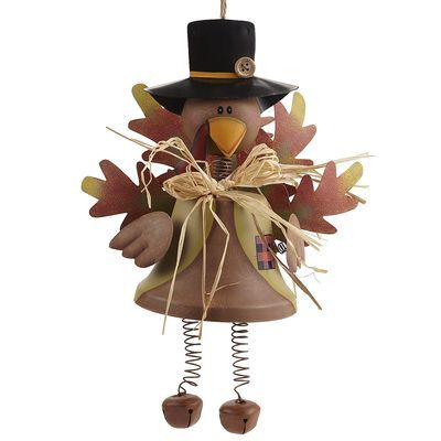 Harvest Turkey Bell...another great bit of Thanksgiving decor if you have little ones