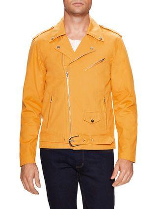 98f5a085a LFA Canvas Motorcycle Jacket - Men's yellow | Men's Bomber Jackets ...