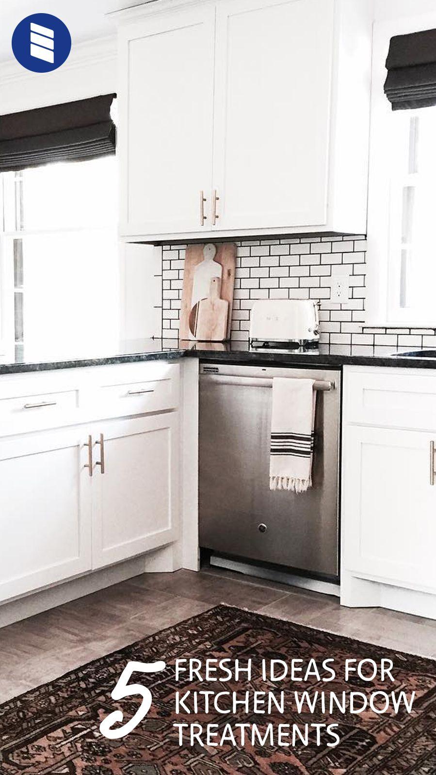 5 Fresh Ideas for Kitchen Window Treatments | Kitchen window ...
