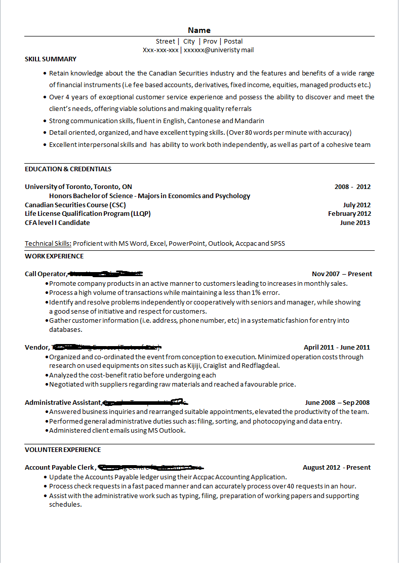 Good It Resume Examples Teller Resume With No Experience  Httpwwwresumecareer