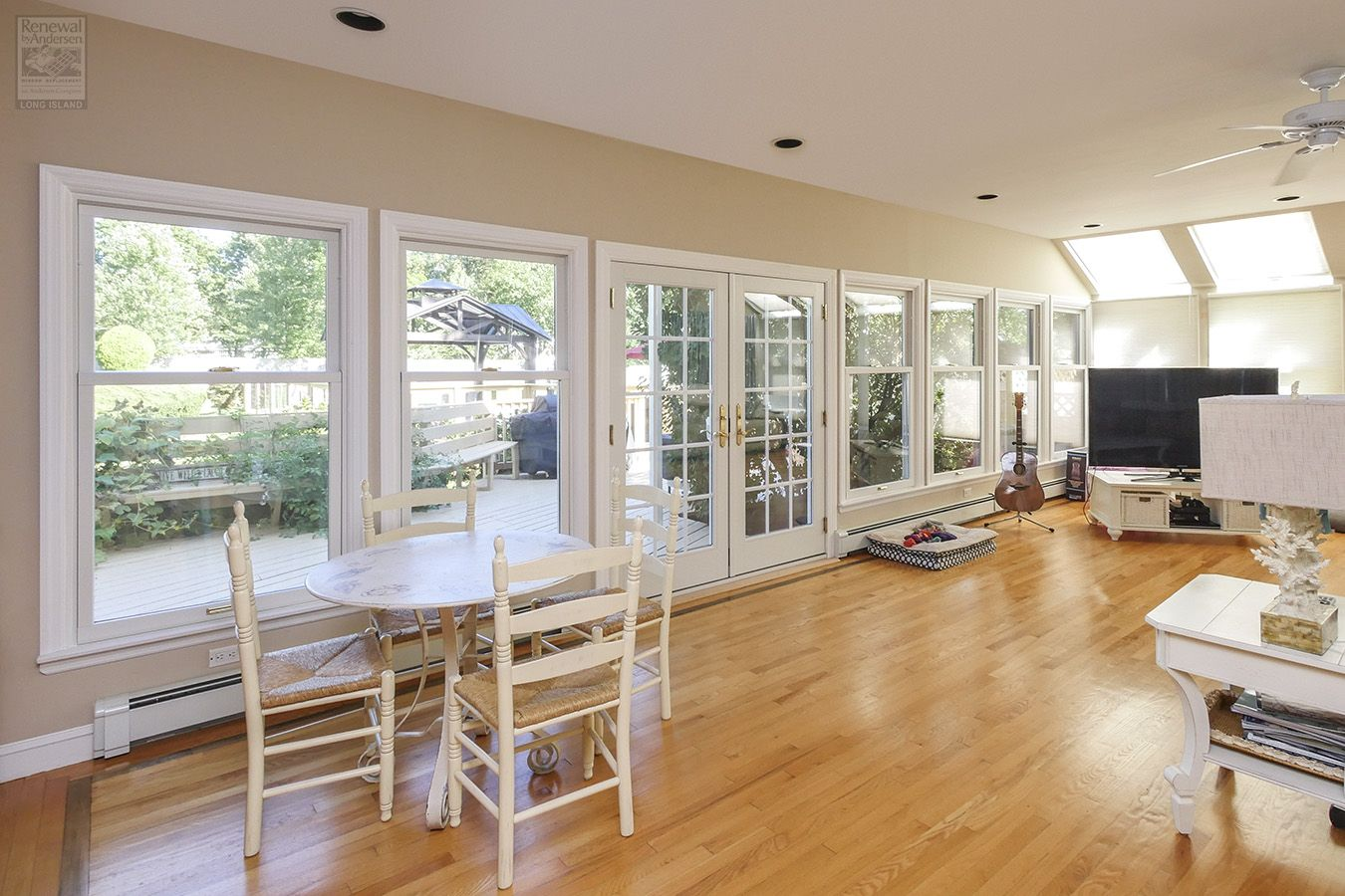 Large Open Family Room And New Windows And Doors From Renewal By Andersen In 2020 Open Family Room Home Remodeling Remodeling Renovation