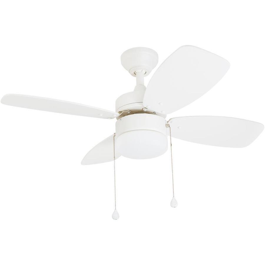 Harbor Breeze Riverview 36 In White Indoor Ceiling Fan With Light 4 Blade Lowes Com Ceiling Fan Fan Light White Ceiling Fan 36 ceiling fan with light