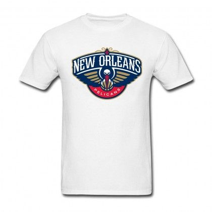 Men S Cotton New Orleans Pelicans Logo Short Sleeve T Shirts Sports Tshirt Designs Sport T Shirt Mens Tshirts