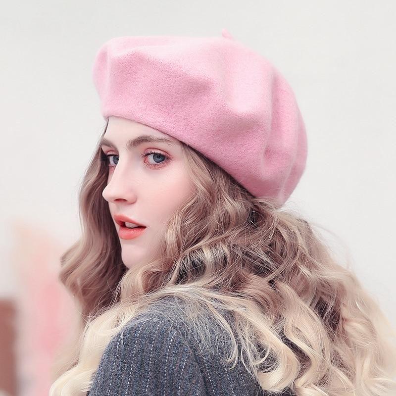 Wool Beret For Women Cap Girl Winter Hats For Women Hats For Women