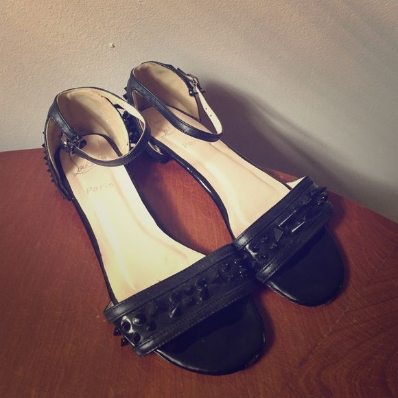 Louboutin Druide sandals Used Black spiked Christian Louboutin sandals (N/A) Shoes