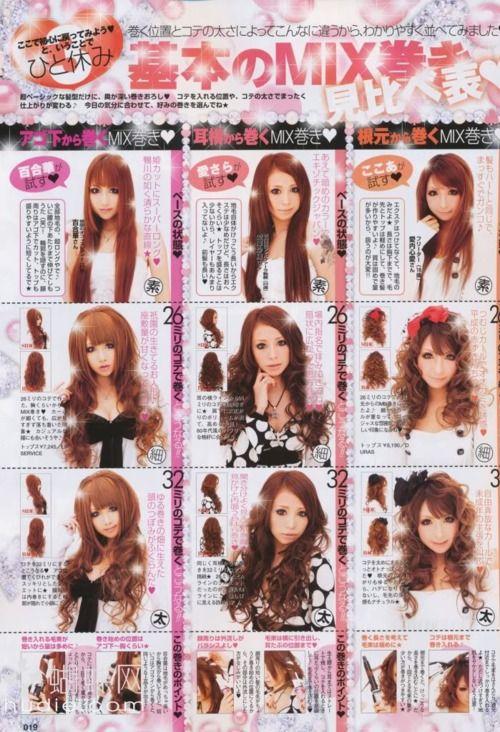Big Gyaru Curls Japanese Fashion Magazine Japanese Hair Tutorial Kawaii Hair Tutorial Kawaii Hairstyles