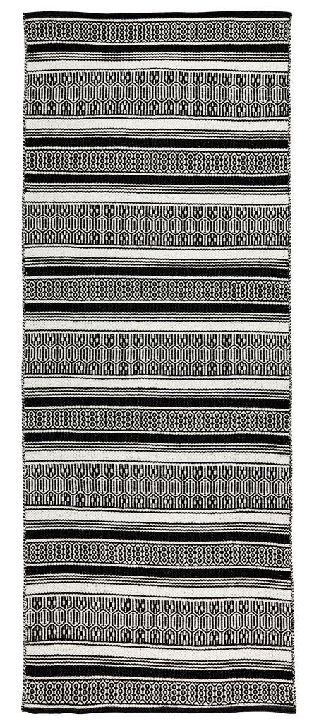 Matto STORBORRE 80x200 musta/valkoinen | JYSK