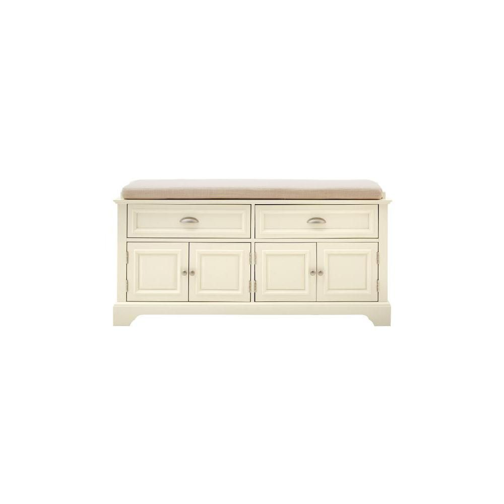 Home Decorators Collection Sadie Storage Ivory Bench | Home {mudroom ...
