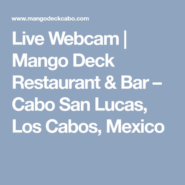 Live Webcam Mango Deck Restaurant Bar Cabo San Lucas Los