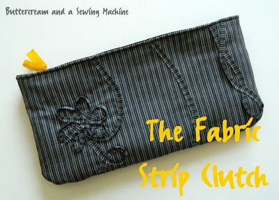 fabric stitch clutch