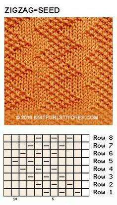 Photo of Zigzag Seed stitch. Just Knit and Purl