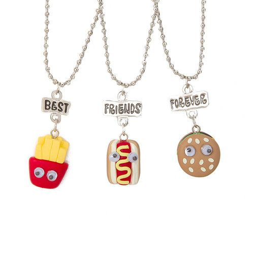 best friends fast food necklaces set of 3 s