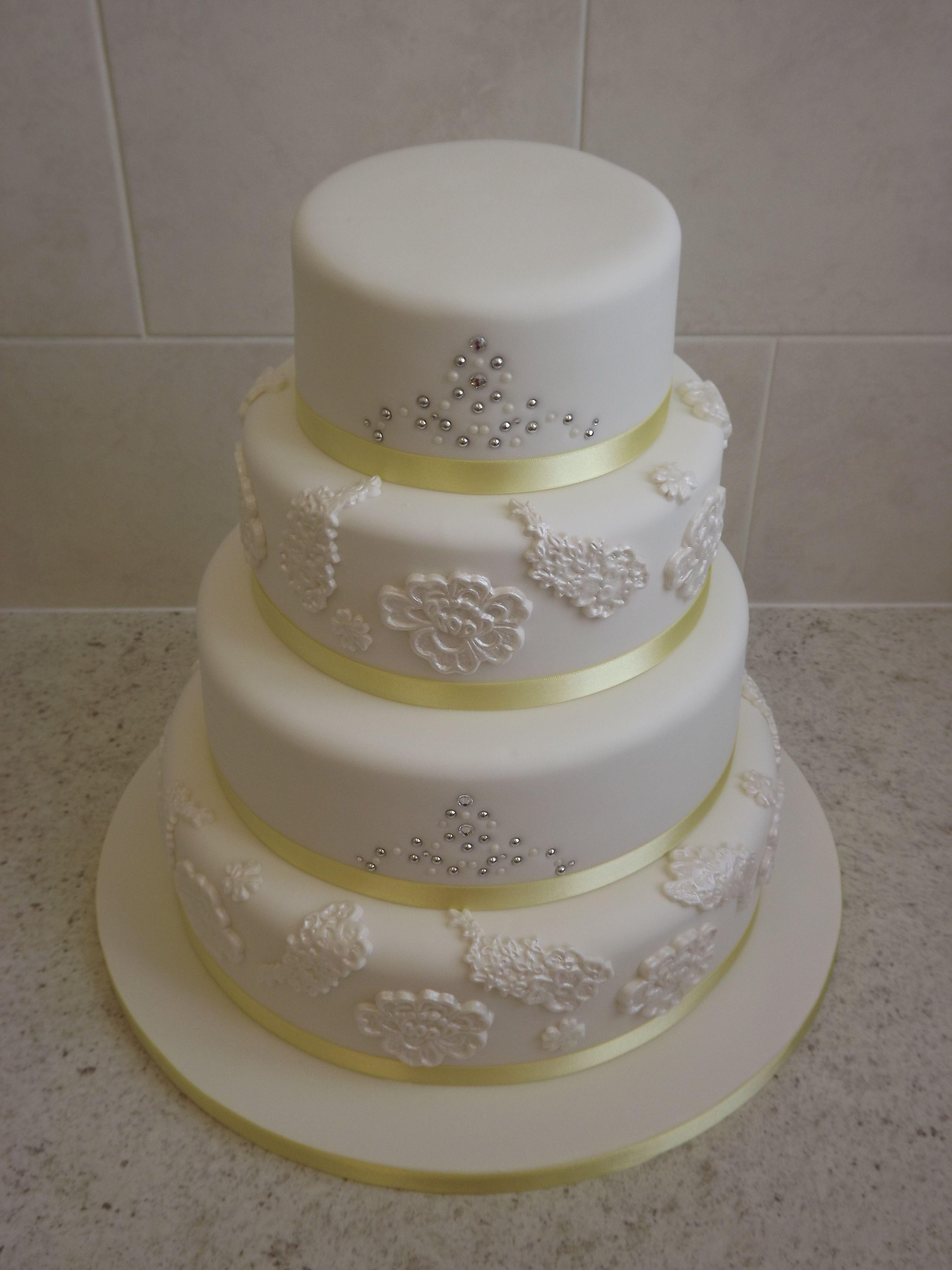 4 Tier Wedding Cake Ice Queen Cakes Designer Wedding - Wedding Cakes Wigan