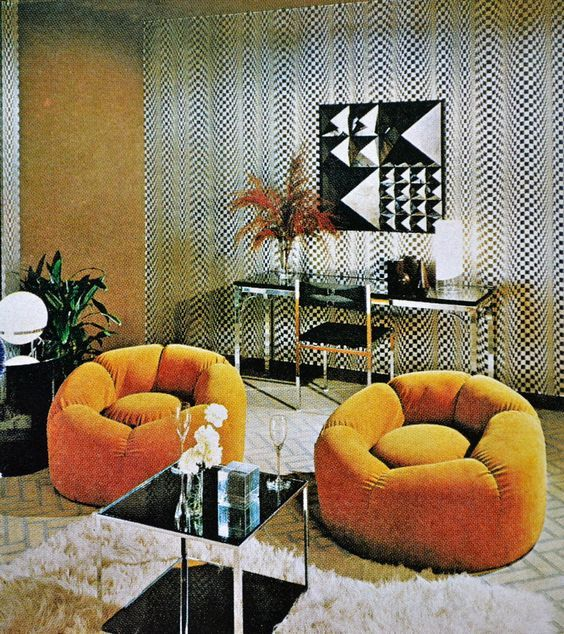 Home Decorators Bedding: Early '70s Egg Yolk Chairs